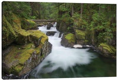 USA, Washington State. Deception Creek, Alpine Lakes Wilderness. Canvas Art Print