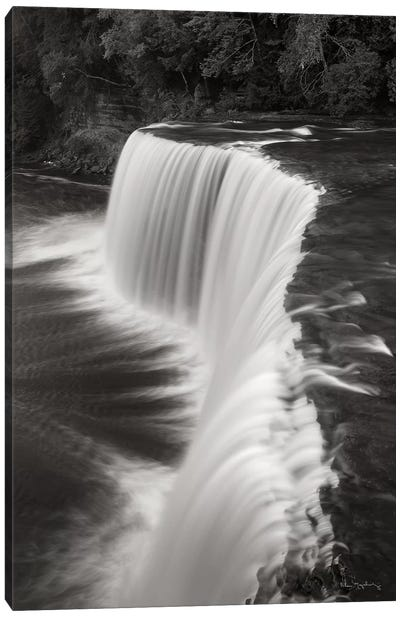 Tahquamenon Falls Michigan II in Black & White  Canvas Art Print