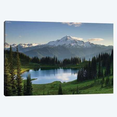 USA, Washington State. Image Lake and Glacier Peak seen from Miner's Ridge, Glacier Peak Wilderness North Cascades Canvas Print #MJC110} by Alan Majchrowicz Canvas Artwork