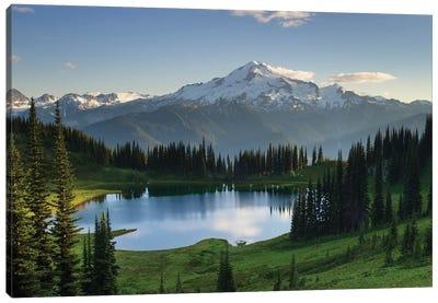 USA, Washington State. Image Lake and Glacier Peak seen from Miner's Ridge, Glacier Peak Wilderness North Cascades Canvas Art Print