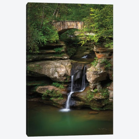 Upper Falls Old Mans Cave Canvas Print #MJC11} by Alan Majchrowicz Canvas Artwork
