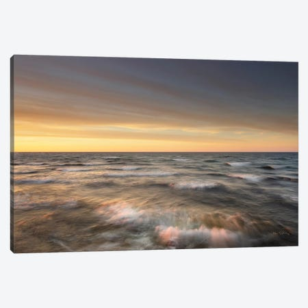 Lake Superior Waves Canvas Print #MJC20} by Alan Majchrowicz Art Print