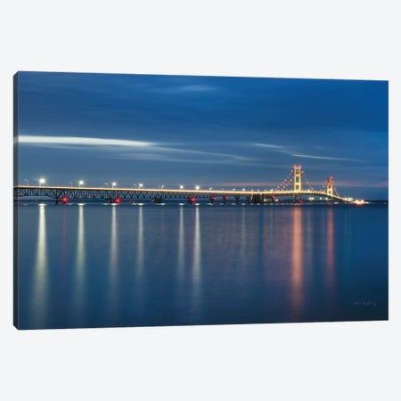 Mackinac Bridge Canvas Print #MJC21} by Alan Majchrowicz Canvas Art Print