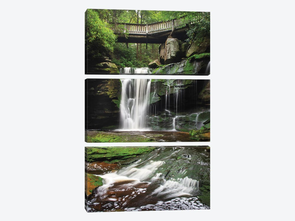 Elakala Falls West I by Alan Majchrowicz 3-piece Canvas Art