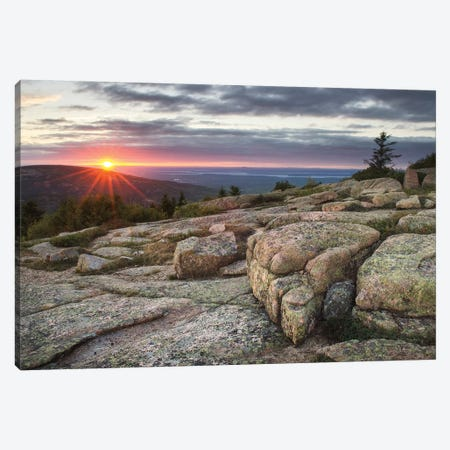 Acadia National Park Sunset Canvas Print #MJC52} by Alan Majchrowicz Canvas Art