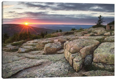 Acadia National Park Sunset Canvas Art Print