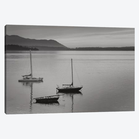Bellingham Bay In Black & White Canvas Print #MJC59} by Alan Majchrowicz Canvas Wall Art