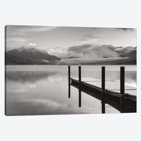 Lake McDonald Dock In Black & White Canvas Print #MJC60} by Alan Majchrowicz Art Print