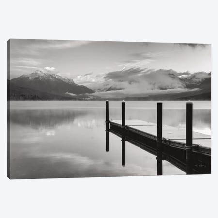 Lake McDonald Dock In Black & White Canvas Print #MJC60} by Alan Majchrowicz Art Print