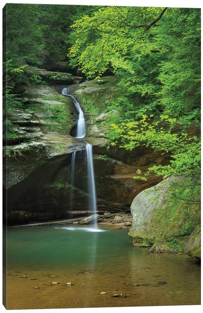Lower Falls Old Mans Cave Canvas Art Print