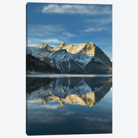 Canada, Alberta. Sunrise over Mount Sarrail and Mount Foch Kananaskis Lake, Peter Lougheed Provincial Park Canvas Print #MJC99} by Alan Majchrowicz Canvas Wall Art
