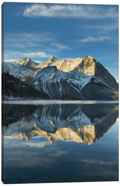 Canada, Alberta. Sunrise over Mount Sarrail and Mount Foch Kananaskis Lake, Peter Lougheed Provincial Park Canvas Art Print