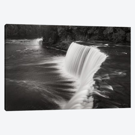 Tahquamenon Falls Michigan I in Black & White  Canvas Print #MJC9} by Alan Majchrowicz Canvas Print