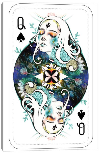 Spade Queen Canvas Print #MJL19