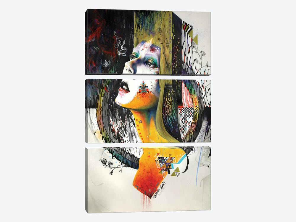 Between Hope And Despair by Minjae Lee 3-piece Canvas Print