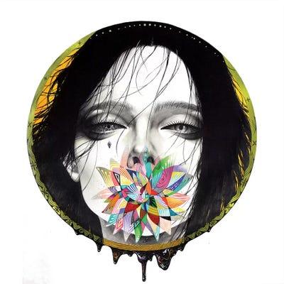 Black blossom canvas art by minjae lee icanvas