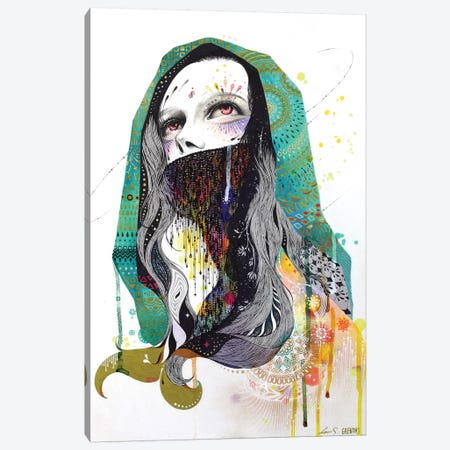 The Prayer Behind The Veil Canvas Print #MJL23} by Minjae Lee Canvas Artwork