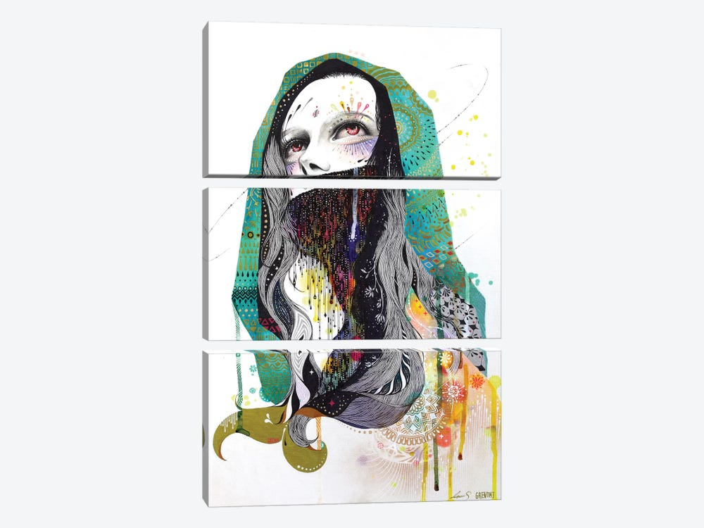 The Prayer Behind The Veil by Minjae Lee 3-piece Canvas Print