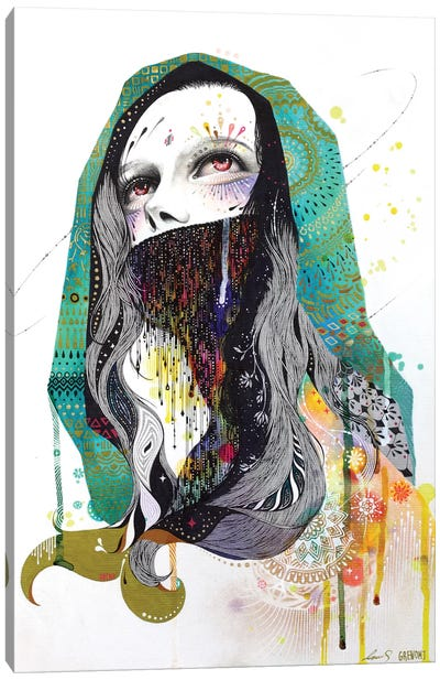 The Prayer Behind The Veil Canvas Art Print