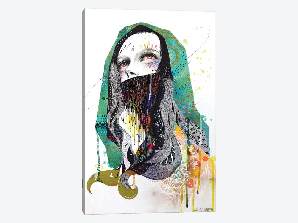 The Prayer Behind The Veil by Minjae Lee 1-piece Canvas Print