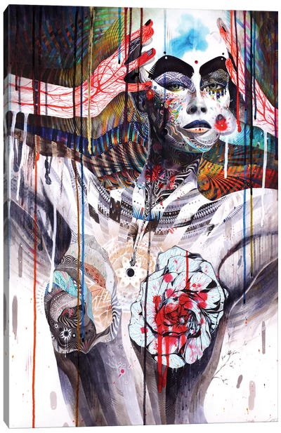 The World Canvas Art Print