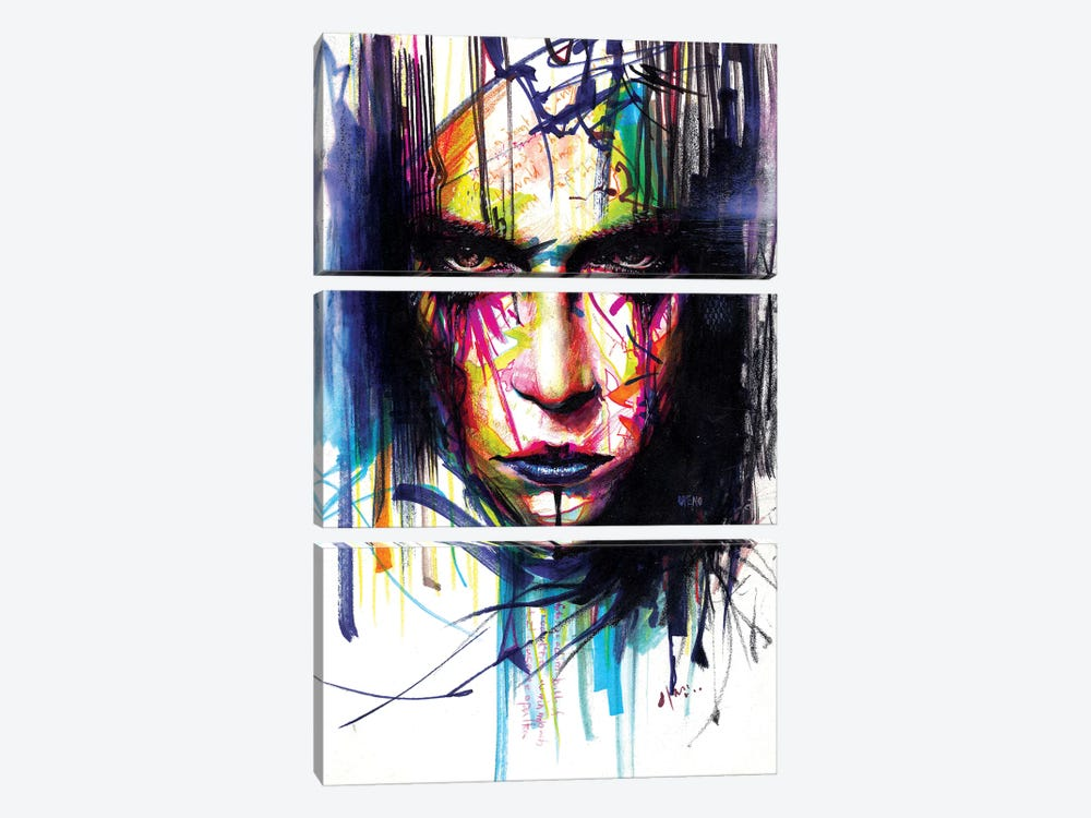 Gaze II by Minjae Lee 3-piece Canvas Art Print