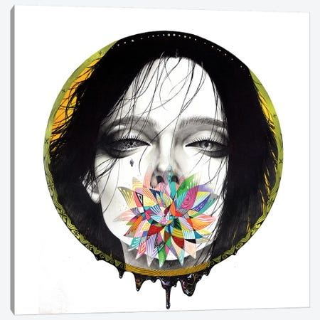 Black Blossom Canvas Print #MJL2} by Minjae Lee Canvas Artwork