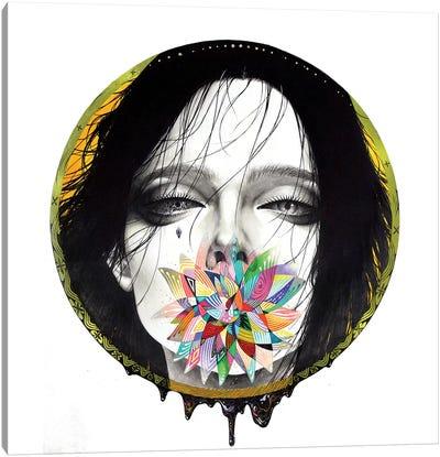 Black Blossom Canvas Art Print