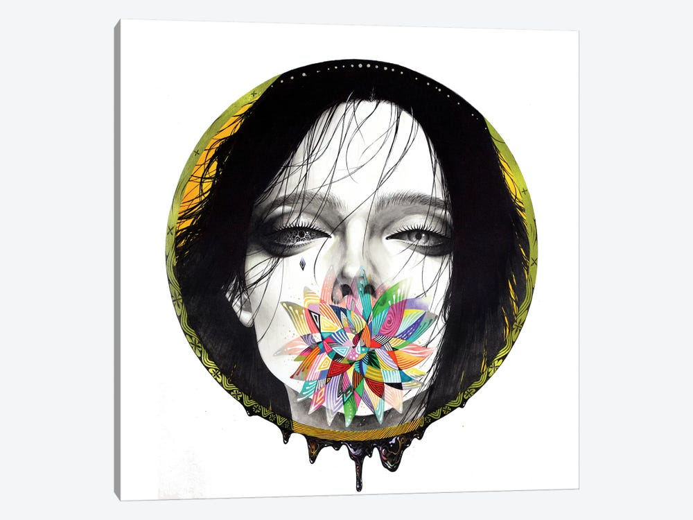 Black Blossom by Minjae Lee 1-piece Canvas Art