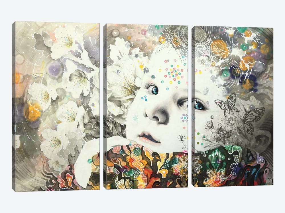 Blooming by Minjae Lee 3-piece Canvas Art Print