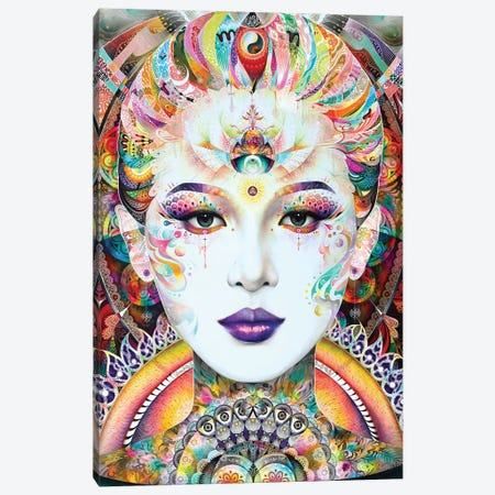 Guan Yin Canvas Print #MJL40} by Minjae Lee Canvas Art