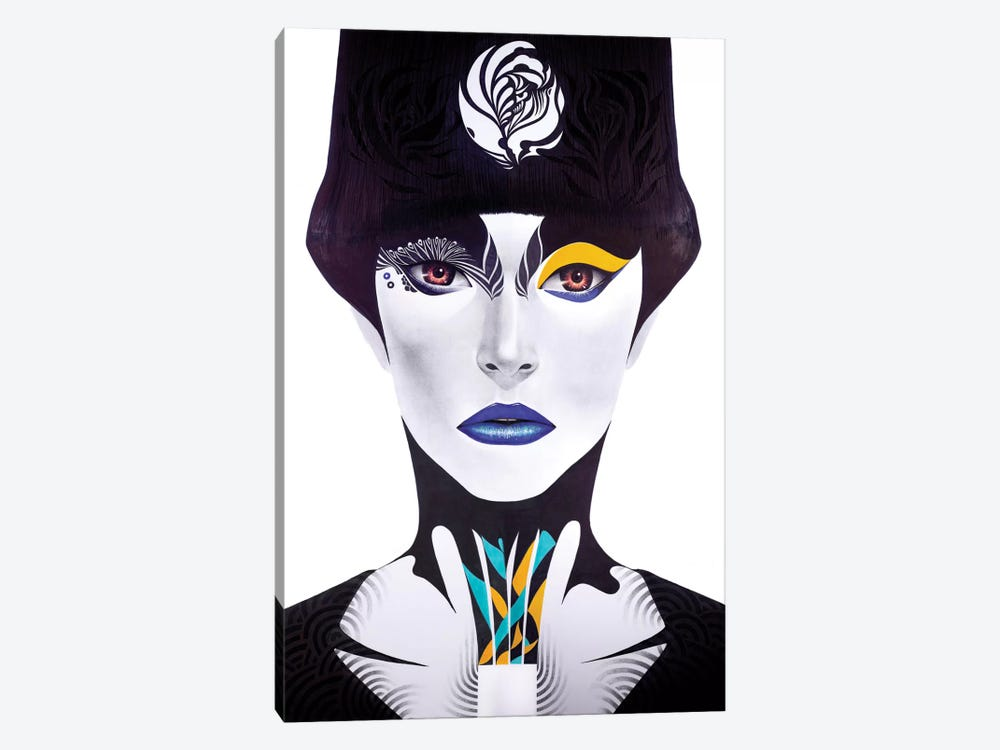 Blue Lip by Minjae Lee 1-piece Canvas Print
