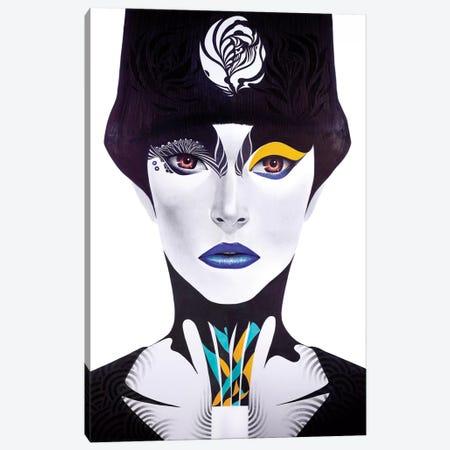 Blue Lip 3-Piece Canvas #MJL5} by Minjae Lee Canvas Print