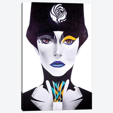 Blue Lip Canvas Print #MJL5} by Minjae Lee Canvas Print