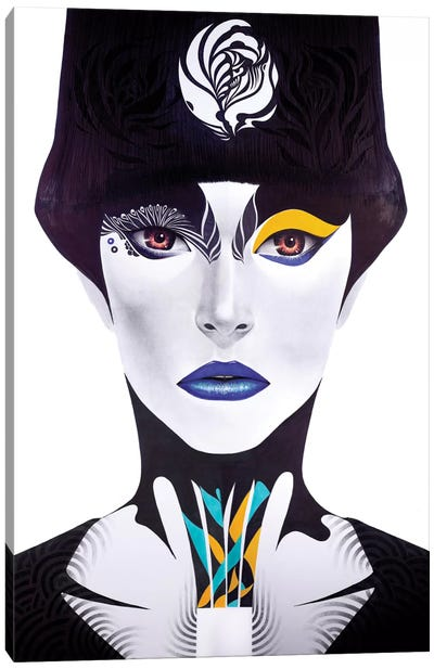 Blue Lip Canvas Art Print