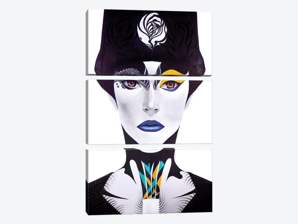 Blue Lip by Minjae Lee 3-piece Art Print