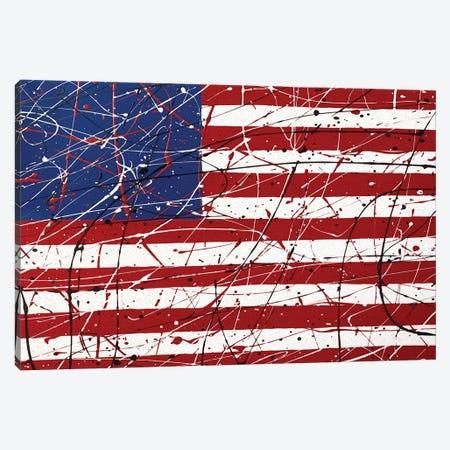 American Flag I Canvas Print #MJM2} by Martin James Art Print