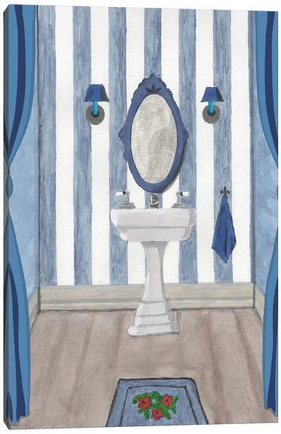 Blue Batroom I Canvas Art Print