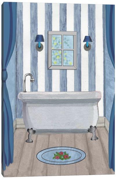 Blue Batroom II Canvas Art Print