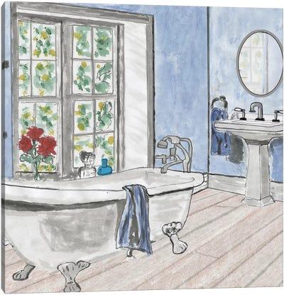 Blue Batroom III Canvas Art Print
