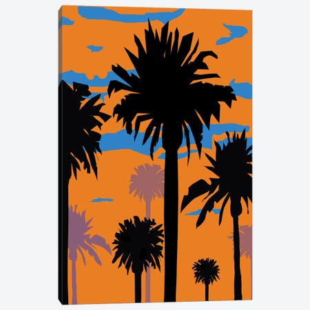 Palm Sunset I Canvas Print #MJM7} by Martin James Canvas Artwork