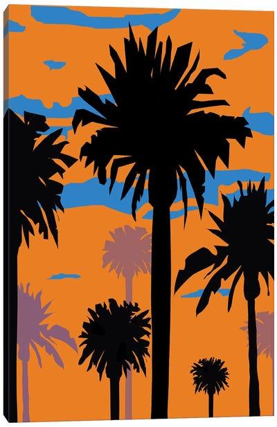 Palm Sunset I Canvas Art Print