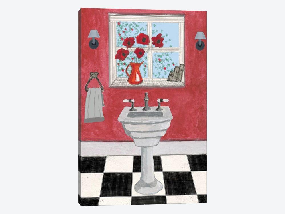Red Bathroom Ii Canvas Print By Martin James Icanvas