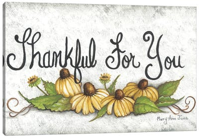 Thankful For You… Canvas Art Print