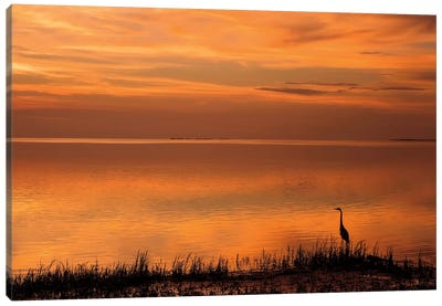 Crystal Beach Sunset Canvas Art Print