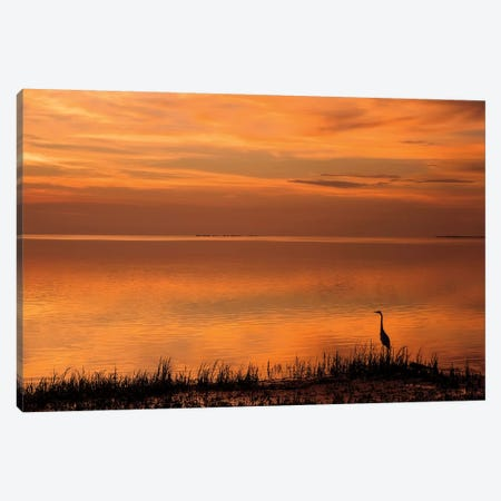 Crystal Beach Sunset 3-Piece Canvas #MJO4} by Mike Jones Canvas Artwork