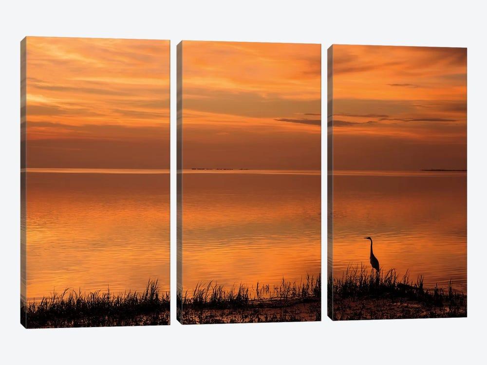 Crystal Beach Sunset by Mike Jones 3-piece Art Print