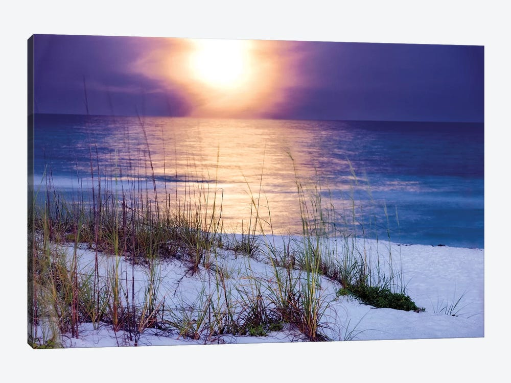 Pensacola Moonrise 1-piece Canvas Print