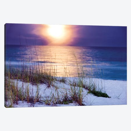 Pensacola Moonrise Canvas Print #MJO6} by Mike Jones Canvas Wall Art