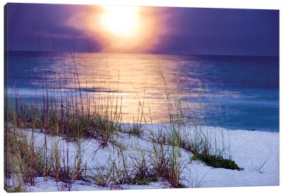 Pensacola Moonrise Canvas Art Print